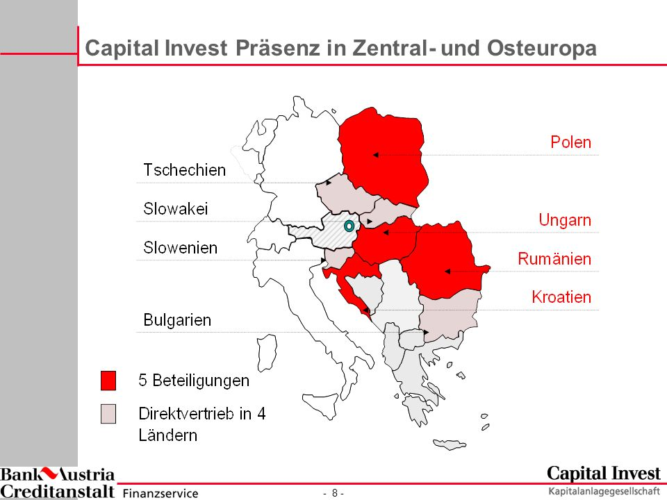 Capital Invest Präsenz in Zentral- und Osteuropa