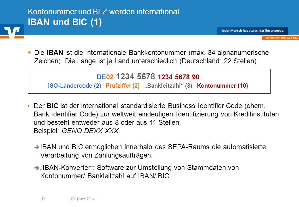 Kontonummer und BLZ werden international IBAN und BIC (1)