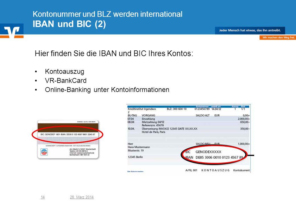 Kontonummer und BLZ werden international IBAN und BIC (2)
