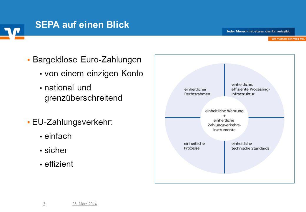 SEPA auf einen Blick Bargeldlose Euro-Zahlungen
