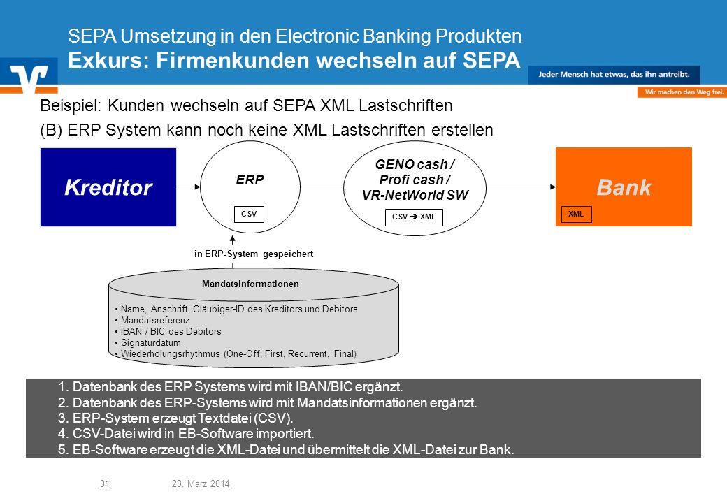 in ERP-System gespeichert