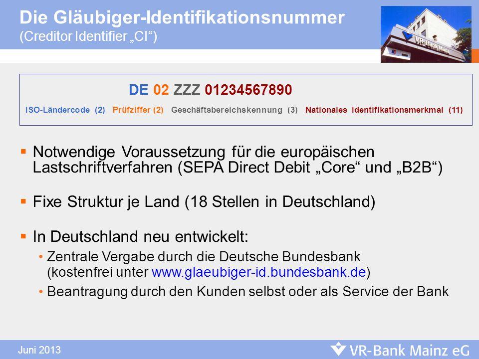 Die Gläubiger-Identifikationsnummer