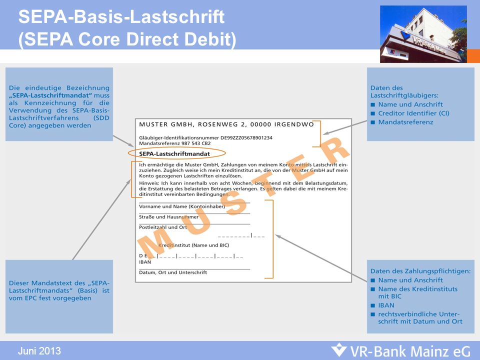 SEPA-Basis-Lastschrift (SEPA Core Direct Debit)
