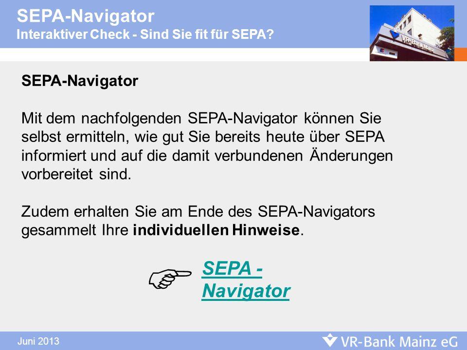  SEPA - Navigator SEPA-Navigator