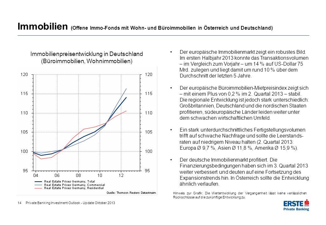 Immobilien (Offene Immo-Fonds mit Wohn- und Büroimmobilien in Österreich und Deutschland)