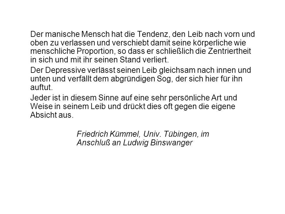 Friedrich Kümmel, Univ. Tübingen, im Anschluß an Ludwig Binswanger