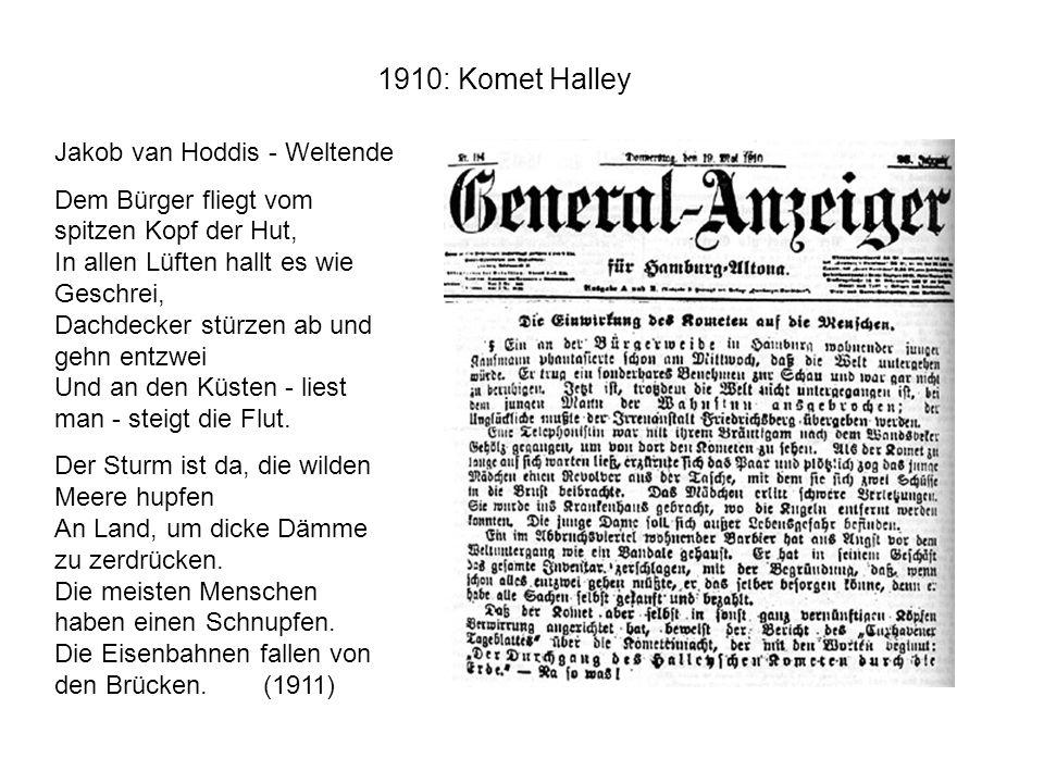 1910: Komet Halley Jakob van Hoddis - Weltende