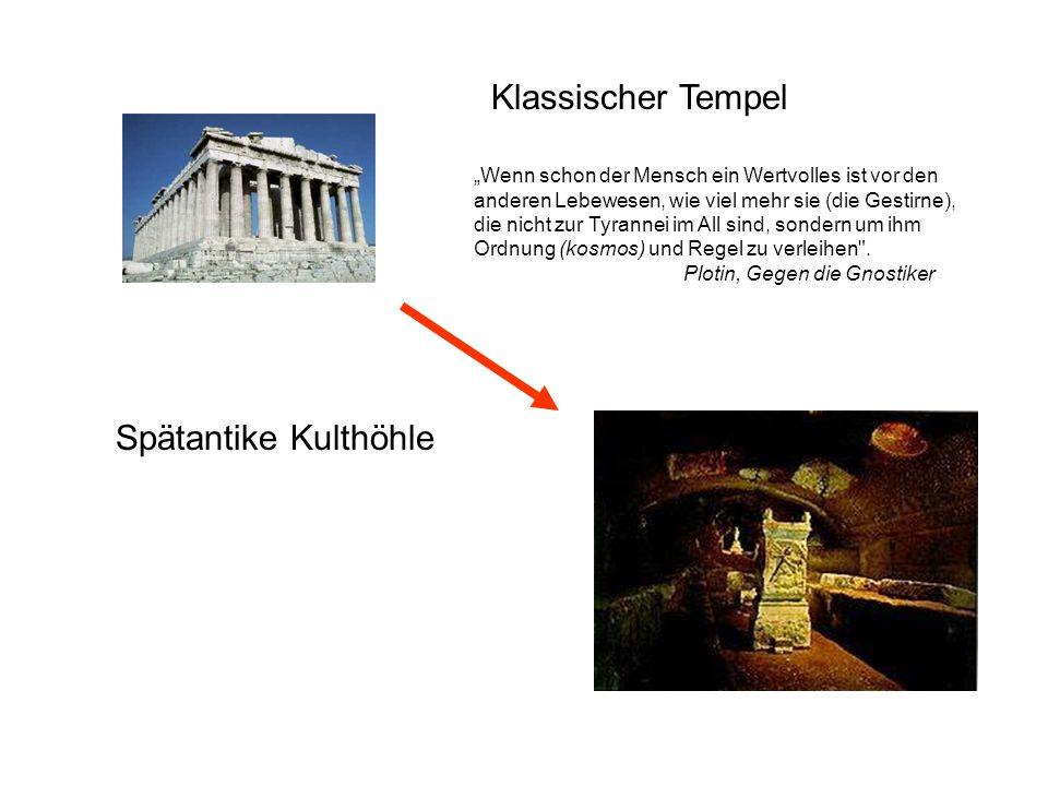Klassischer Tempel Spätantike Kulthöhle