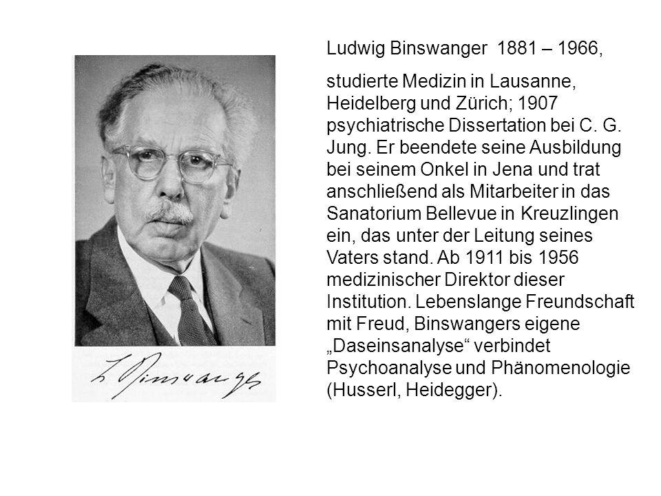 Ludwig Binswanger 1881 – 1966,