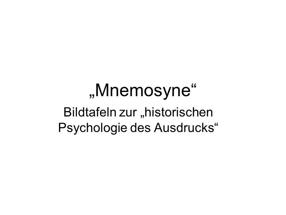 """Bildtafeln zur """"historischen Psychologie des Ausdrucks"""