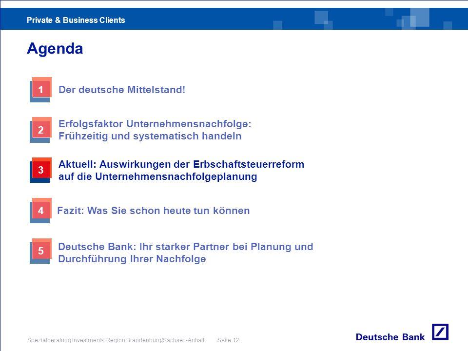 Agenda 1 Der deutsche Mittelstand!