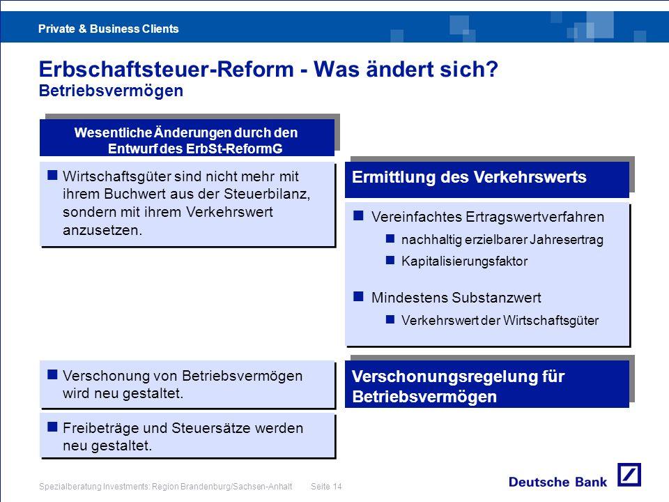 Erbschaftsteuer-Reform - Was ändert sich Betriebsvermögen