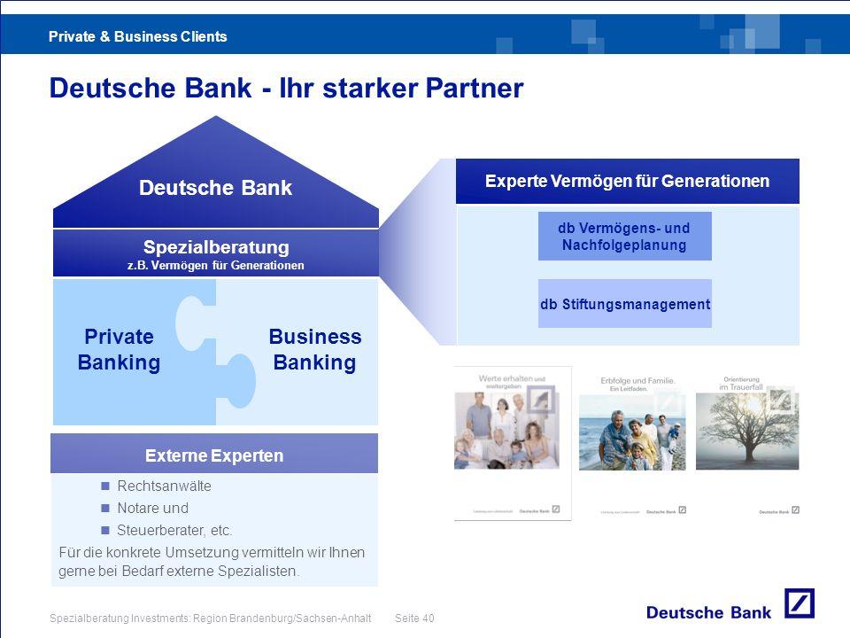 Deutsche Bank - Ihr starker Partner