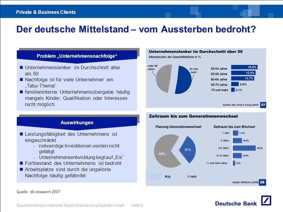 Der deutsche Mittelstand – vom Aussterben bedroht