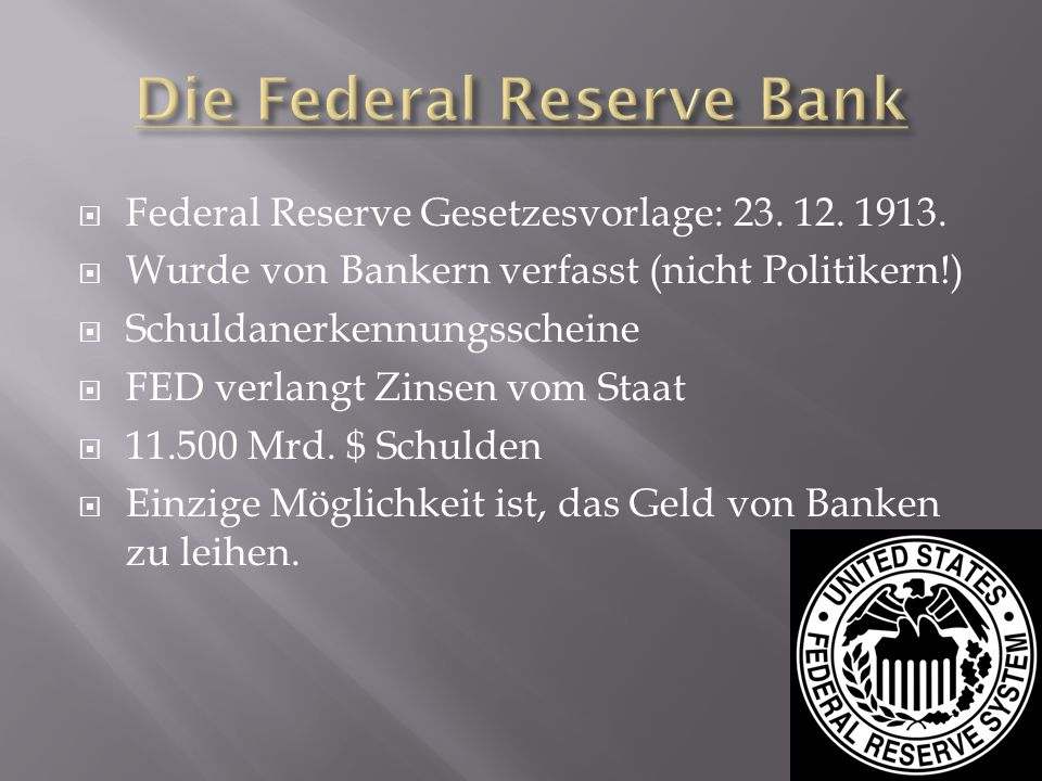 Die Federal Reserve Bank