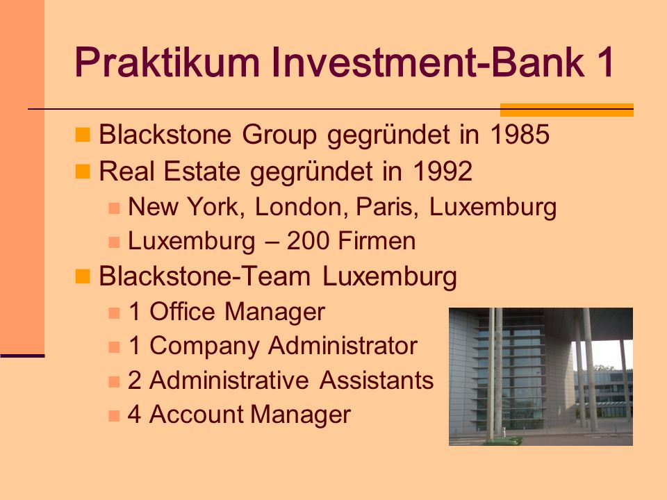 Praktikum Investment-Bank 1