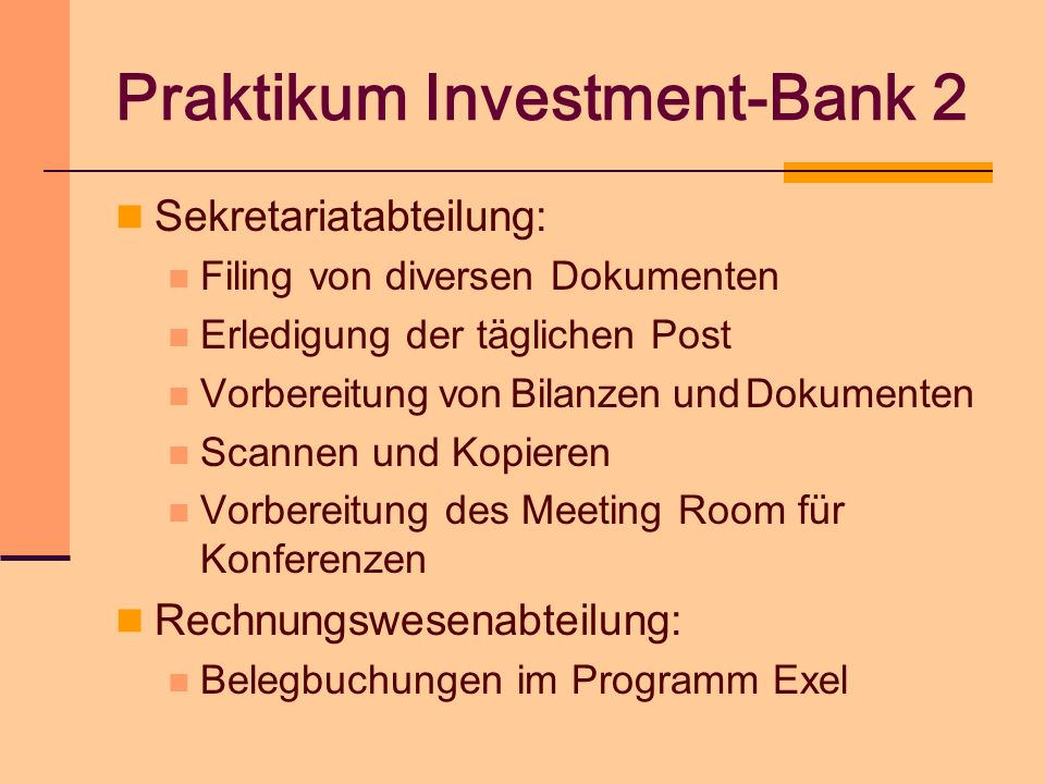 Praktikum Investment-Bank 2