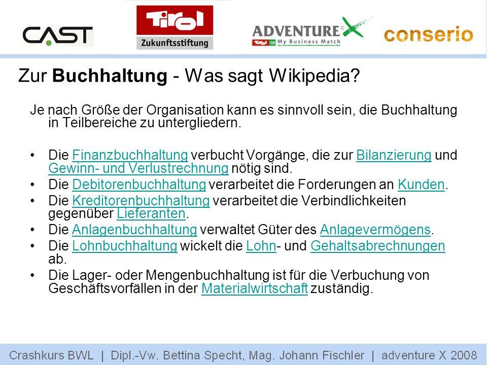 Zur Buchhaltung - Was sagt Wikipedia