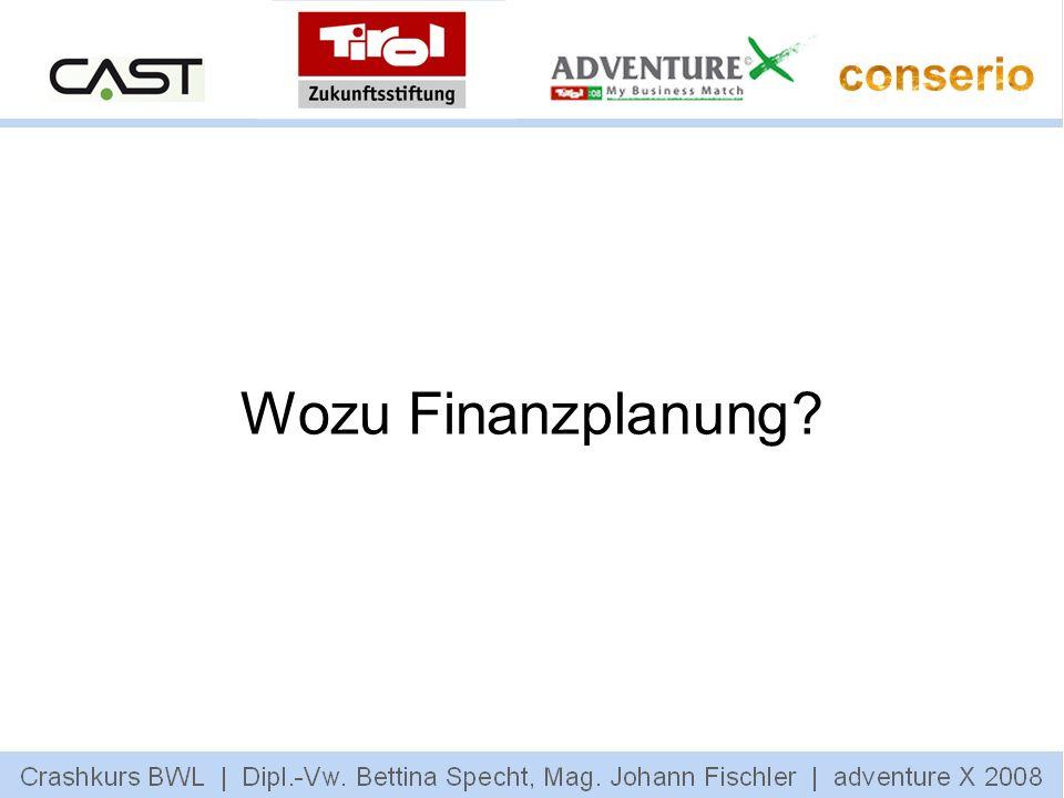 Wozu Finanzplanung