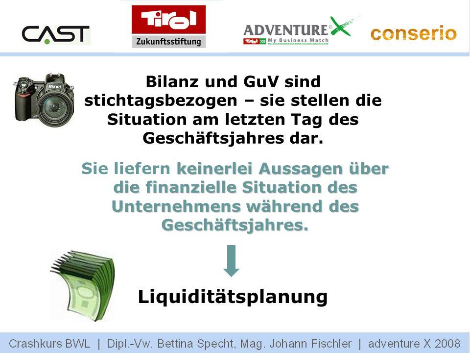 Bilanz und GuV sind stichtagsbezogen – sie stellen die Situation am letzten Tag des Geschäftsjahres dar.
