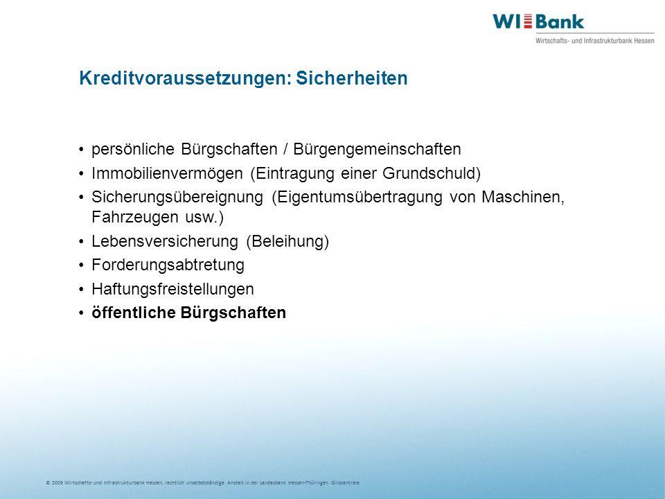 Kreditvoraussetzungen: Sicherheiten