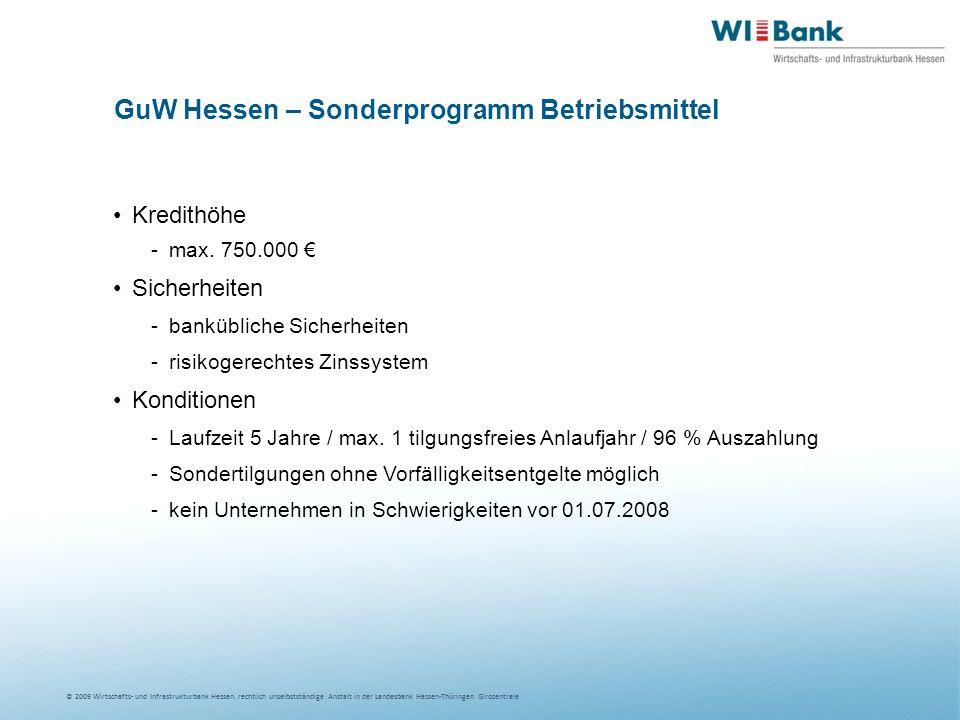 GuW Hessen – Sonderprogramm Betriebsmittel