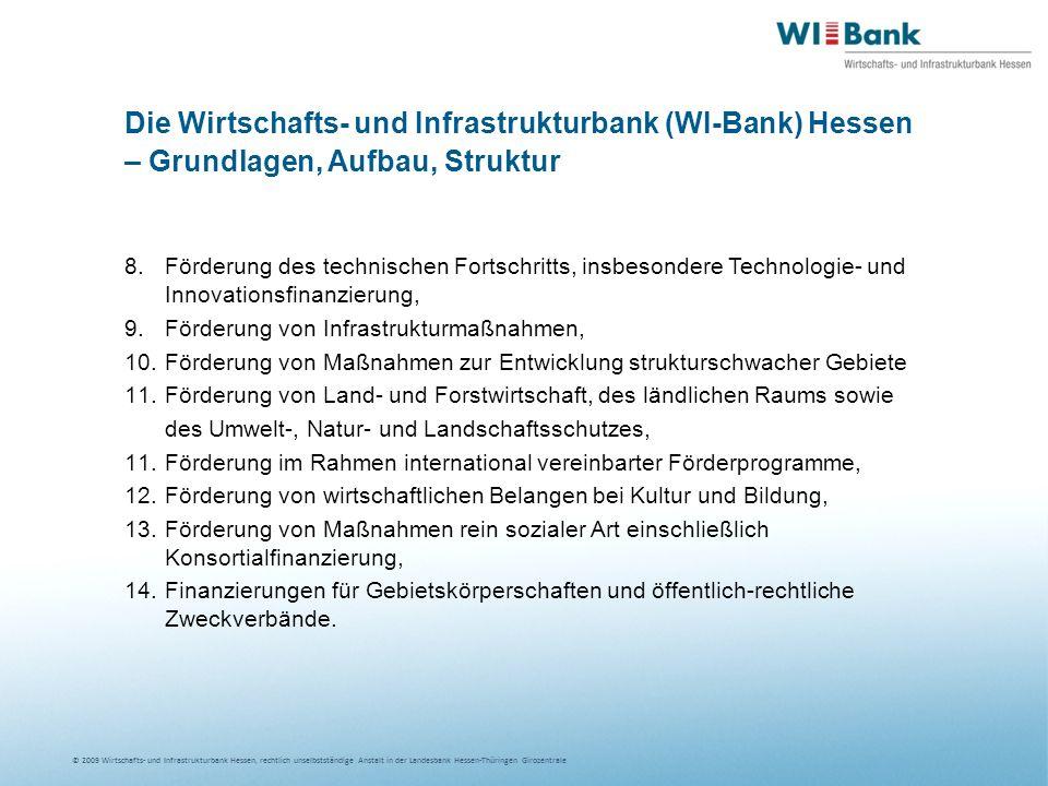Die Wirtschafts- und Infrastrukturbank (WI-Bank) Hessen