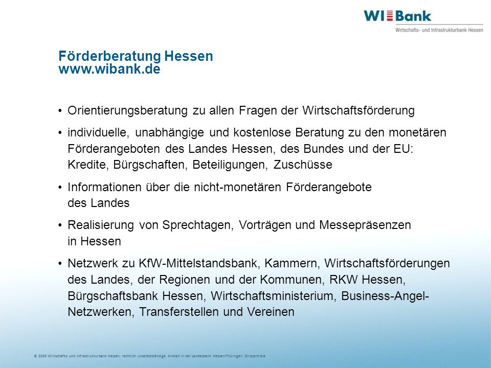 Förderberatung Hessen www.wibank.de
