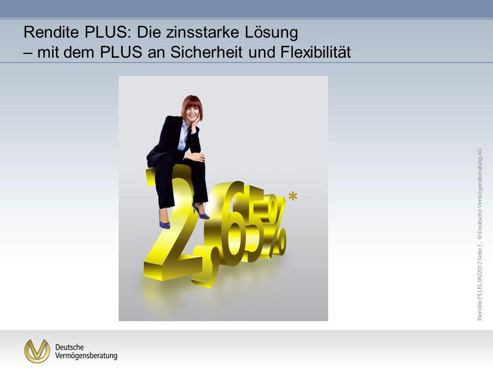 Rendite PLUS: Die zinsstarke Lösung – mit dem PLUS an Sicherheit und Flexibilität