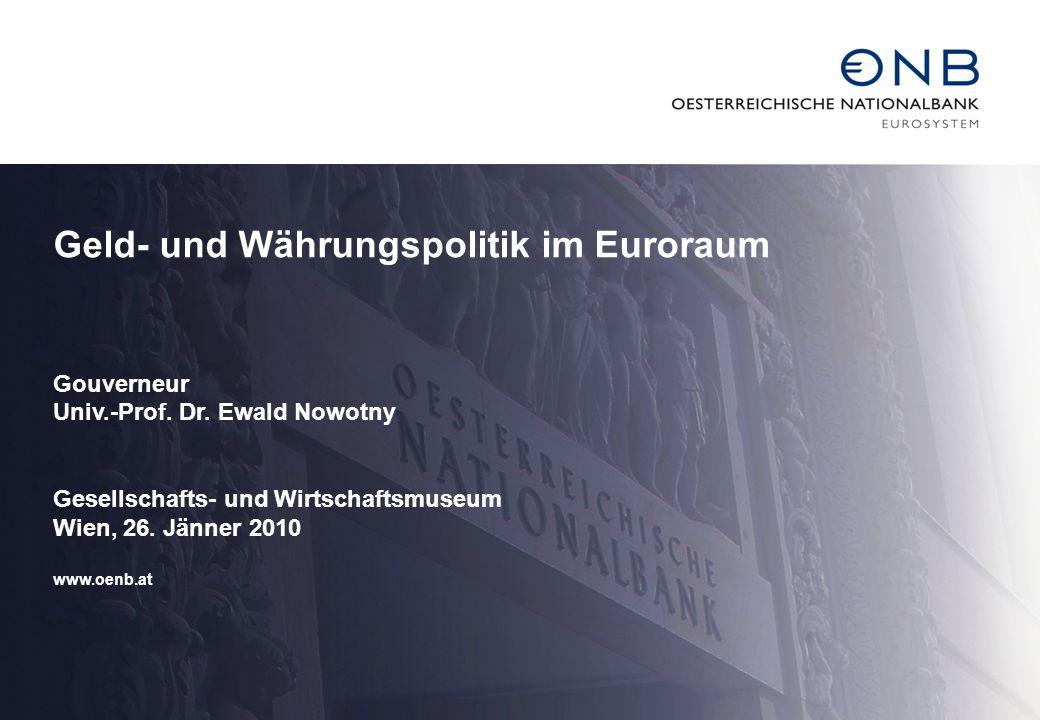 Geld- und Währungspolitik im Euroraum
