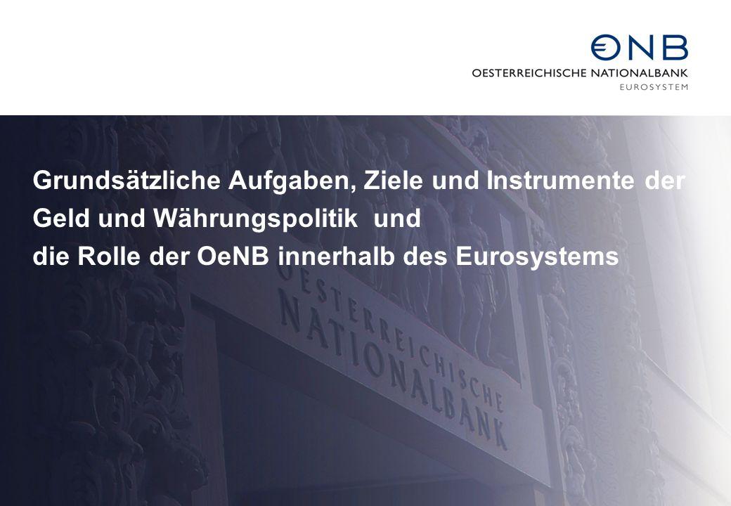 Grundsätzliche Aufgaben, Ziele und Instrumente der Geld und Währungspolitik und