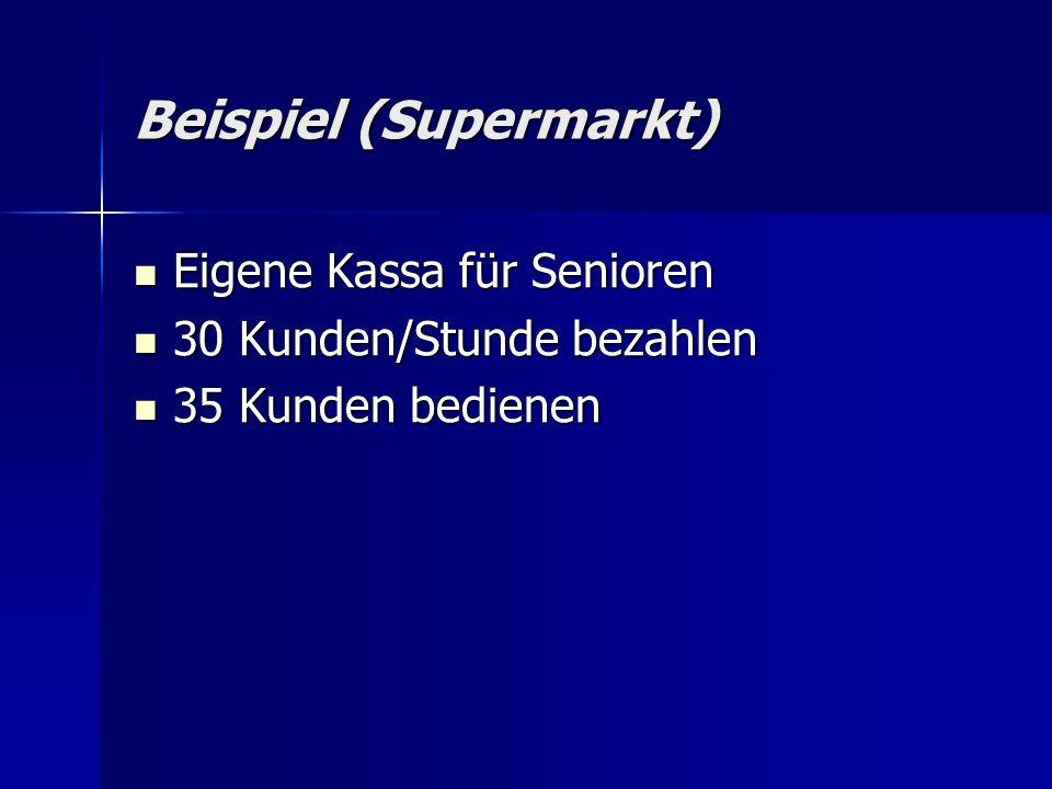 Beispiel (Supermarkt)