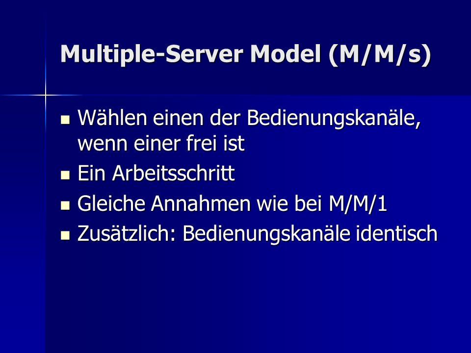 Multiple-Server Model (M/M/s)