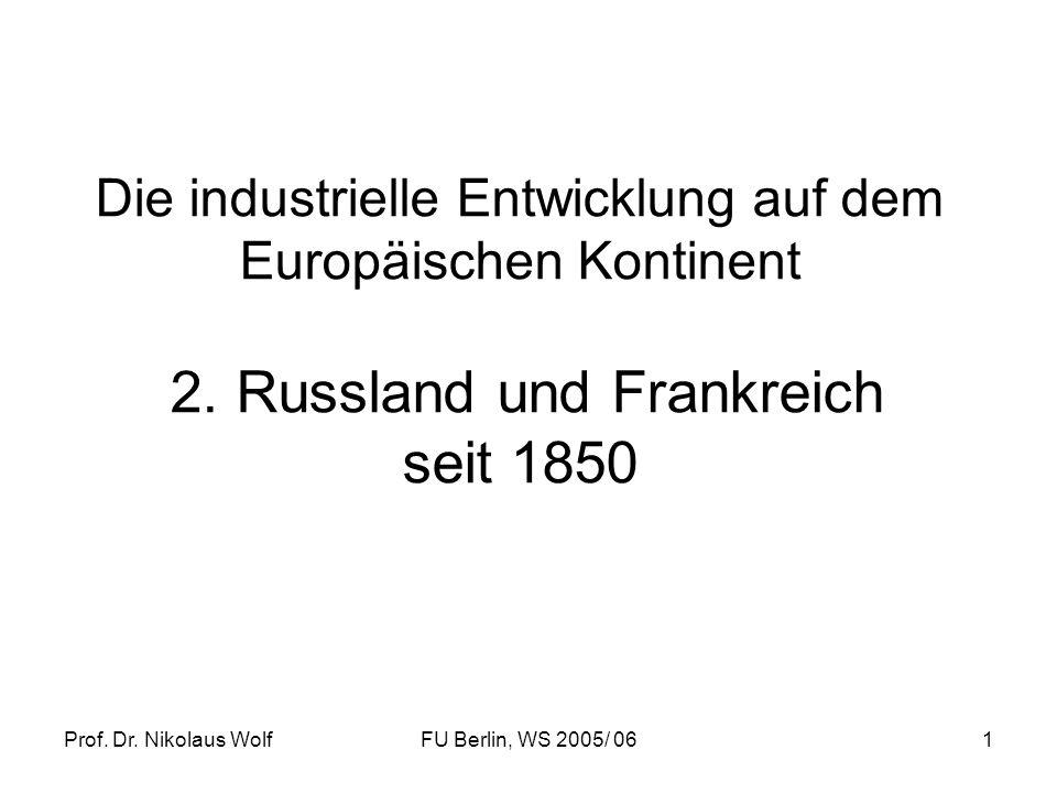 Die industrielle Entwicklung auf dem Europäischen Kontinent 2