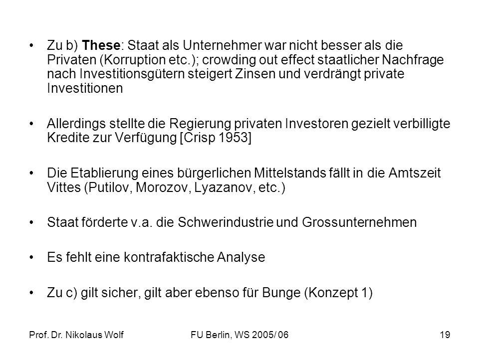 Staat förderte v.a. die Schwerindustrie und Grossunternehmen