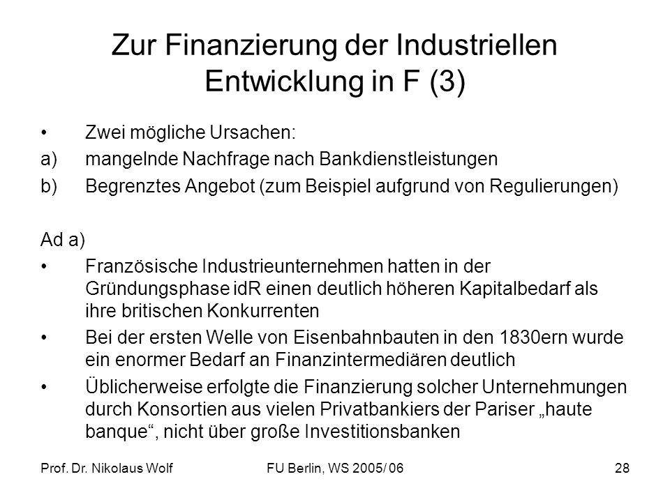 Zur Finanzierung der Industriellen Entwicklung in F (3)