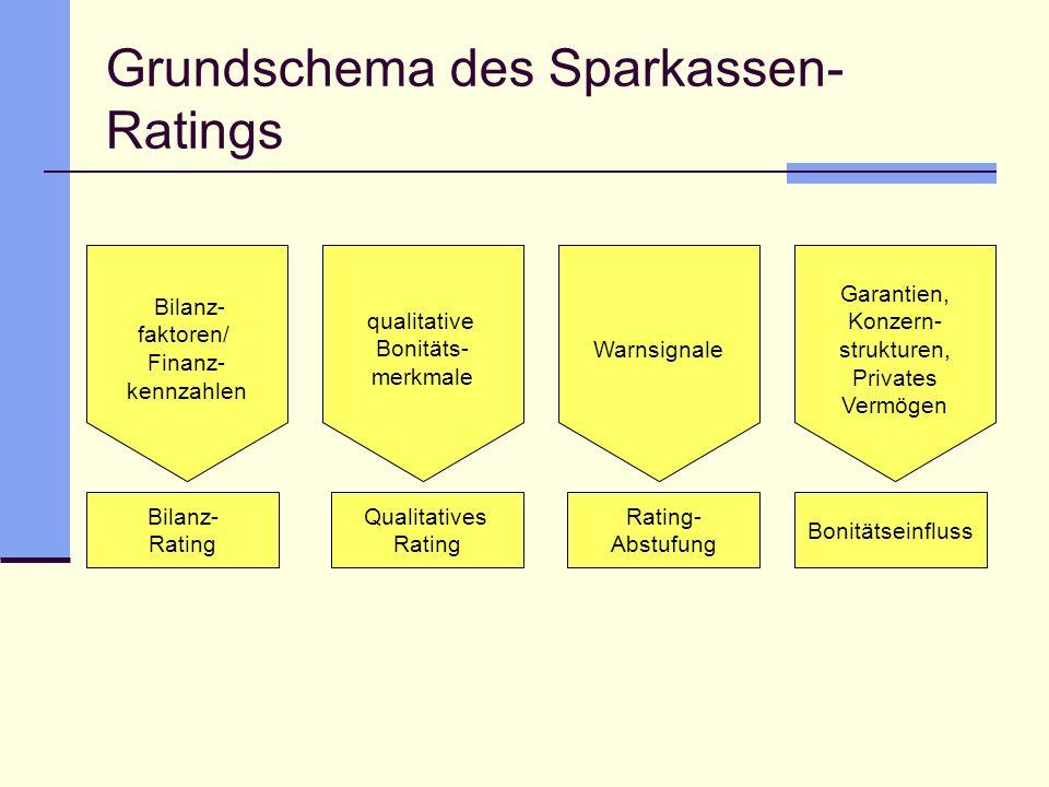Grundschema des Sparkassen-Ratings