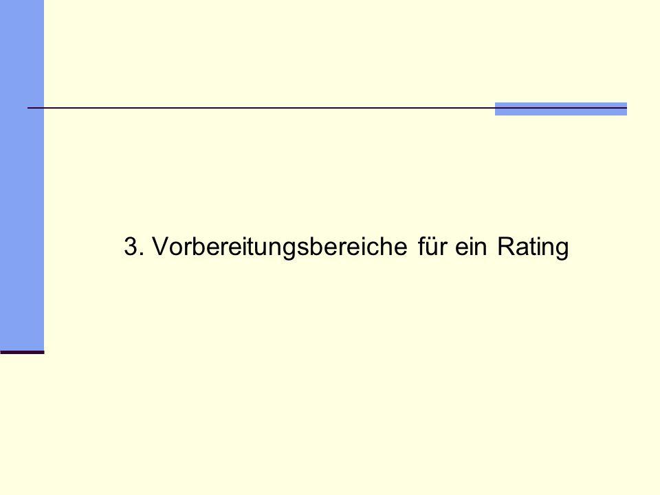 3. Vorbereitungsbereiche für ein Rating