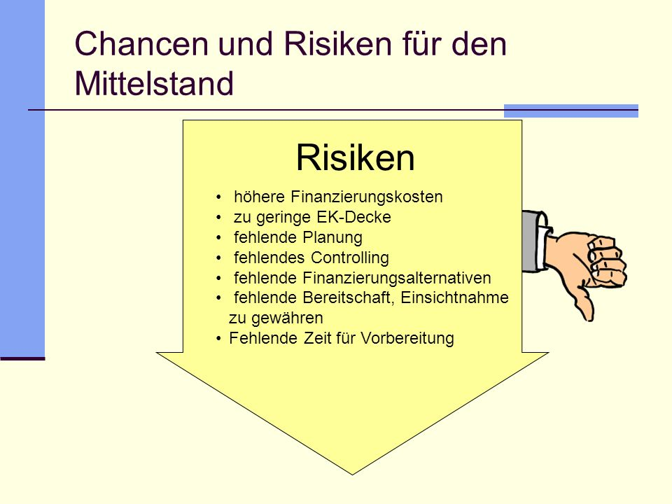 Chancen und Risiken für den Mittelstand