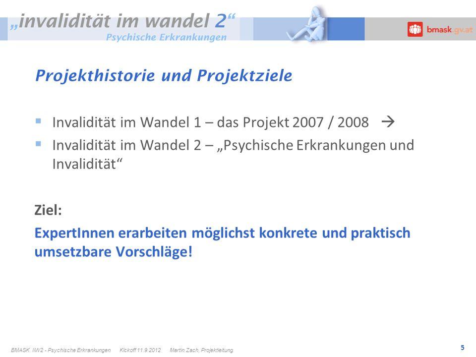 Projekthistorie und Projektziele