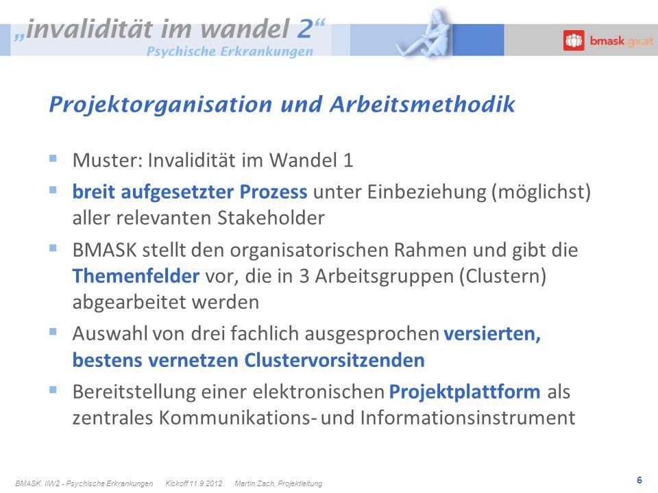 Projektorganisation und Arbeitsmethodik