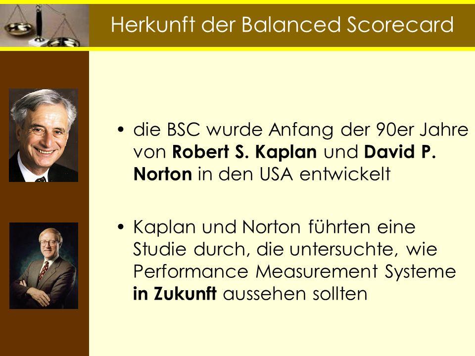 Herkunft der Balanced Scorecard