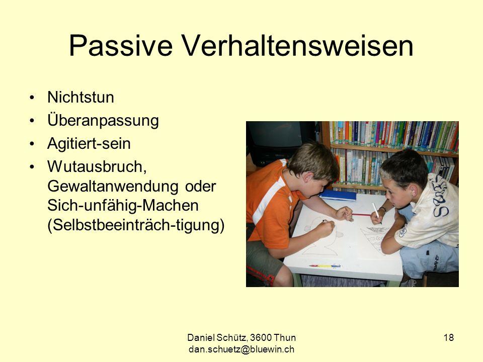 Passive Verhaltensweisen