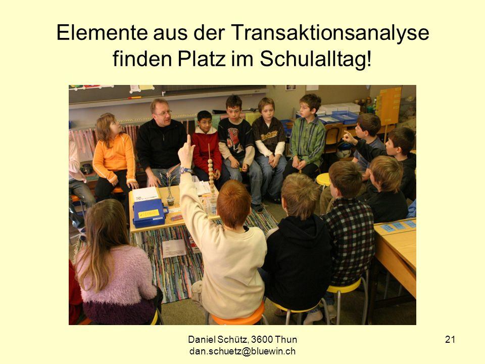 Elemente aus der Transaktionsanalyse finden Platz im Schulalltag!