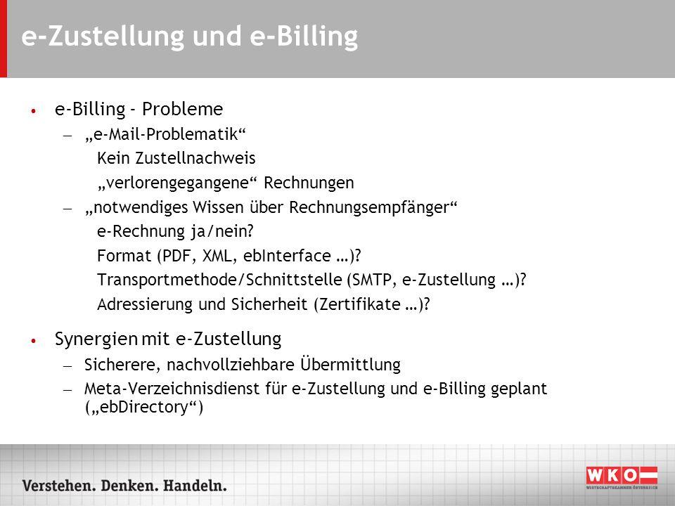 e-Zustellung und e-Billing