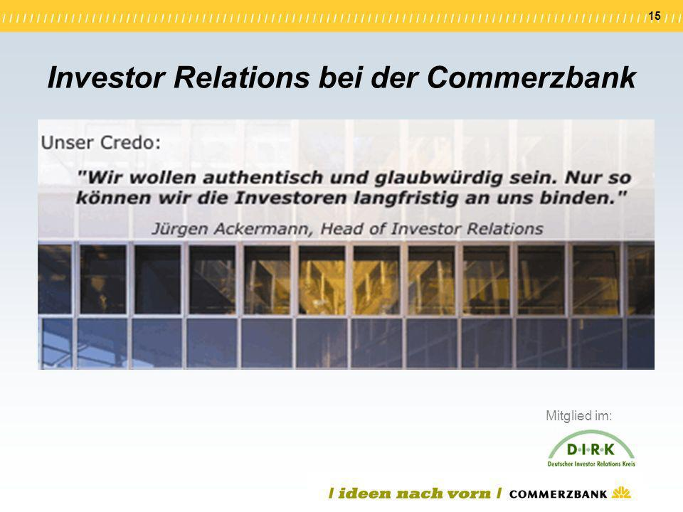 Investor Relations bei der Commerzbank