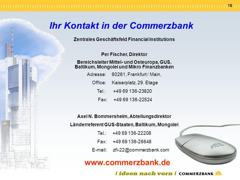 Ihr Kontakt in der Commerzbank