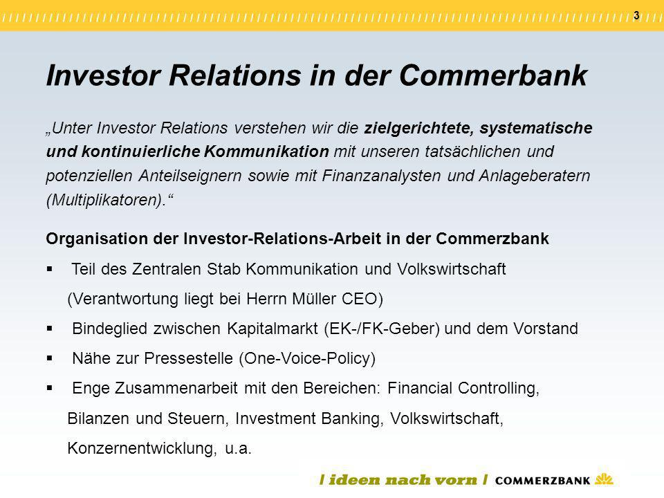 Investor Relations in der Commerbank