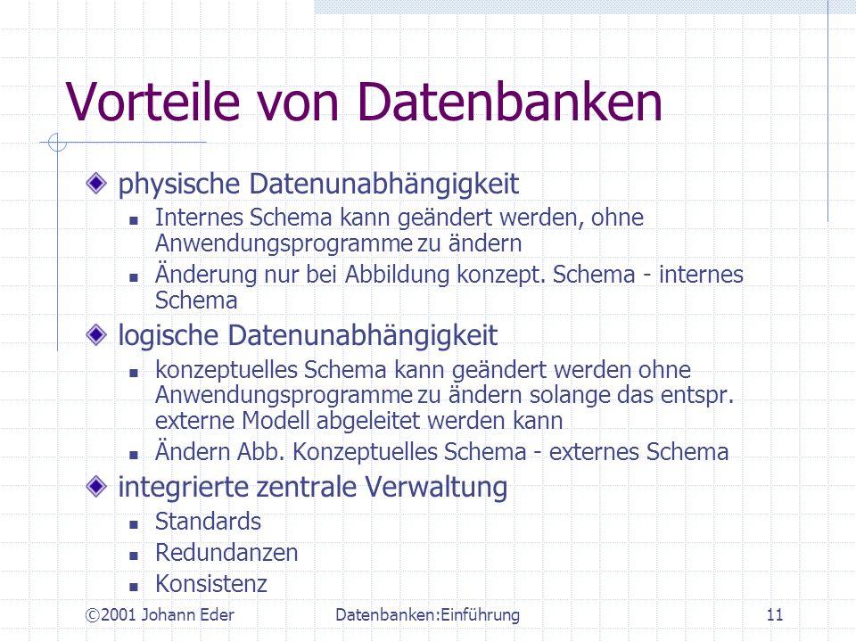 Vorteile von Datenbanken
