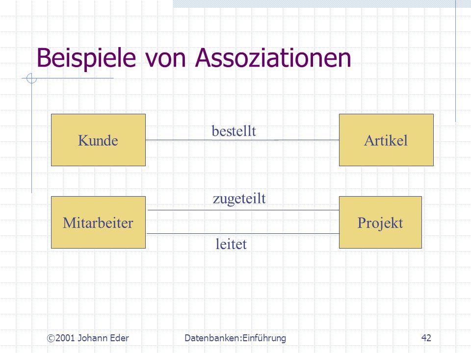 Beispiele von Assoziationen